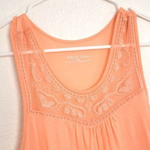 Merona women's Peach Knit Tank Top size M